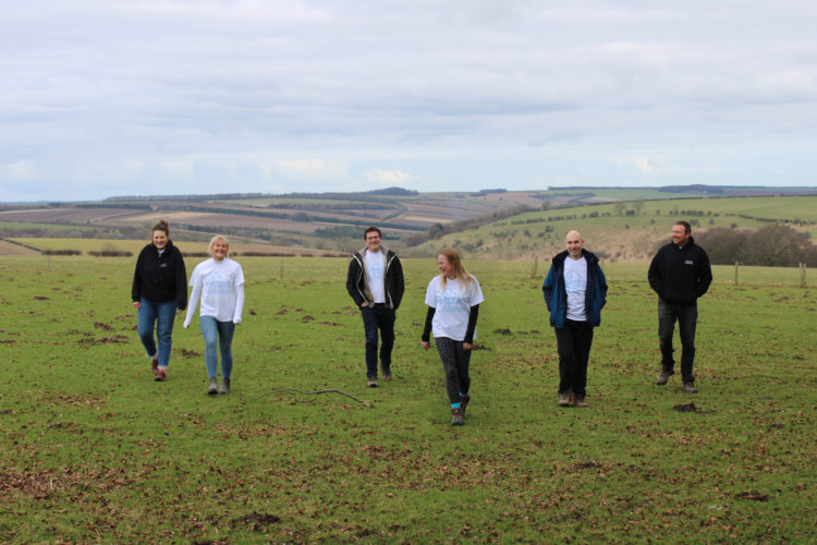 Yorkshire Rapeseed Oil Team supporting Downright Special with a 500 Mile Walking Challenge out in Wolds countryside