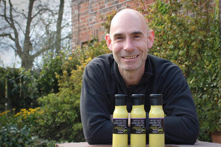 Matthew Dixon with Yorkshire Rapeseed Oil Lemon & Lavender Gin Dressing